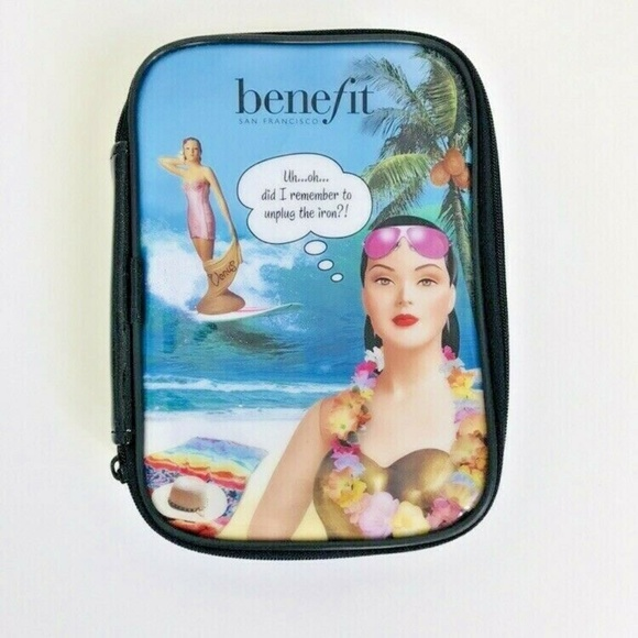Benefit Handbags - Benefit Cosmetics Hawaii Makeup Bag Cosmetic Case